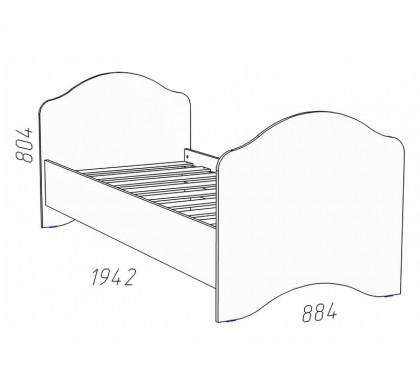 схема «Прованс Шери» НМ-008.62 Кровать (сп.место 800х1900)