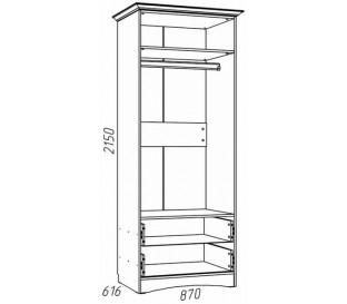 наполнение «Прованс Шери» НМ-009.16 Z Шкаф для одежды с зеркалом