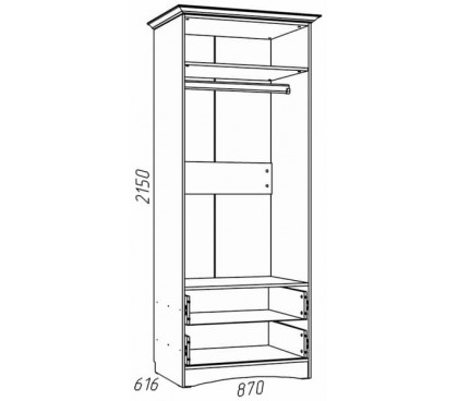 наполнение «Прованс Шери» НМ-009.16 Шкаф для одежды