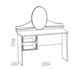 схема «Прованс Шери» НМ-011.09-01 Стол туалетный 2-01