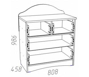 схема «Прованс Шери» НМ-011.63 Комод