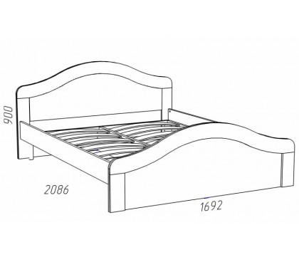 схема «Прованс Шери» НМ-011.73 Кровать (сп.место 1600х2000,)