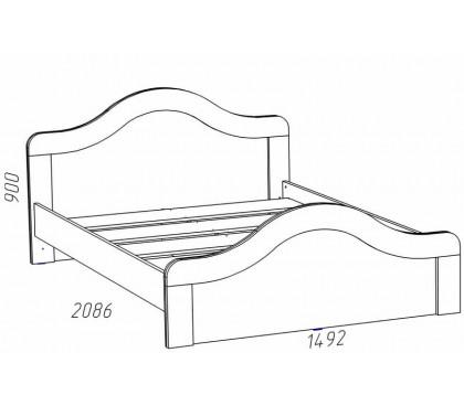 схема «Прованс Шери» НМ-039.06 Кровать (сп.место 1400х2000)