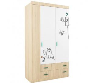 «Кот 25» Шкаф 3-х дверный с ящиками