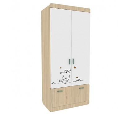 «Кот 2» Шкаф 2 двери с ящиком