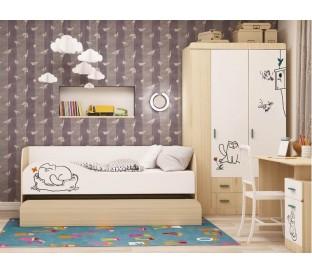 «Кот 900.1» Кровать 2-х уровневая в интерьере