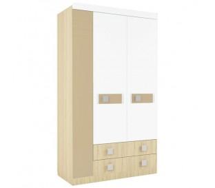 «Стиль 25» Шкаф 3-х дверный с ящиками вставка кофе