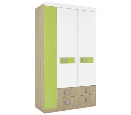 «Стиль 25» Шкаф 3-х дверный с ящиками вставка лайм