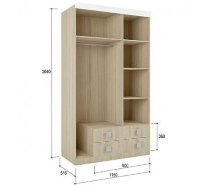 «Стиль 25» Шкаф 3-х дверный с ящиками наполнение
