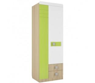 «Стиль 2» Шкаф 2-х дверный с ящиками вставка лайм