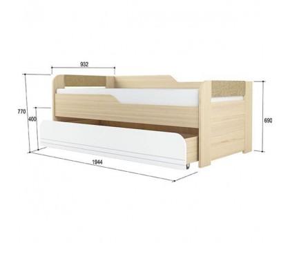 «Стиль 900.1» Кровать 2-х уровневая вставка кофе