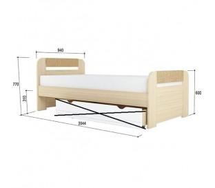 «Стиль 900.3» Кровать 900х2000 вставка кофе без ящика