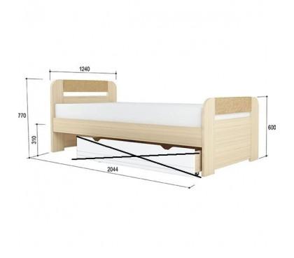 «Стиль 1200.3» Кровать вставка кофе без ящика
