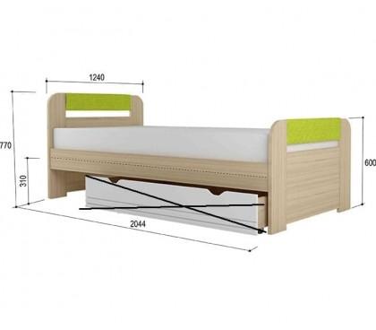 «Стиль 1200.3» Кровать вставка лайм без ящика