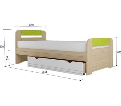 «Стиль 1200.3» Кровать вставка лайм с ящиком