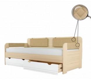 «Стиль 900.4» Кровать-тахта вставка кофе с подушками на липучках