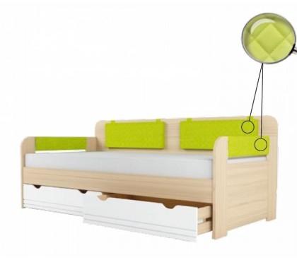 «Стиль 900.4» Кровать-тахта вставка лайм с подушками на липучках