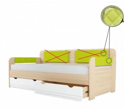 «Стиль 900.4» Кровать-тахта вставка лайм без подушек