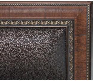 «Калипсо 14М» Кровать 1400 декор и мягкая спинка