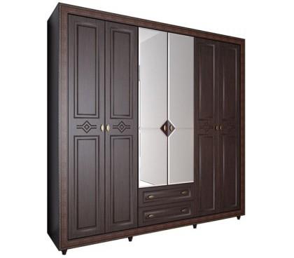 «Калипсо 27» Шкаф 6-х створчатый (Венге)