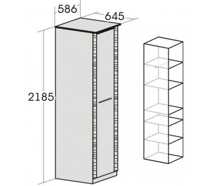 «Элана» Шкаф 1-дверный для одежды наполнение