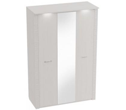 «Элана» Шкаф 3-дверный с зеркалом цвет Бодега белая