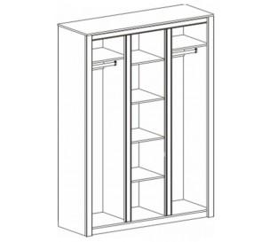 «Монте» Шкаф 3-дверный наполнение