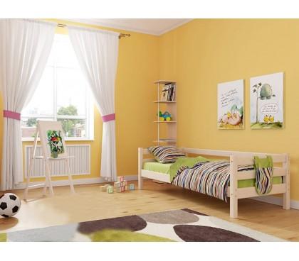 «Соня» Кровать-2 с задней защитой цвет Белый