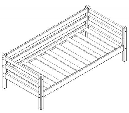 «Соня» Кровать-2 с задней защитой схема