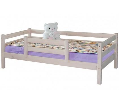 «Соня» Кровать-4 с защитой по центру цвет Белый
