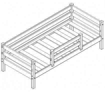 «Соня» Кровать-4 с защитой по центру схема