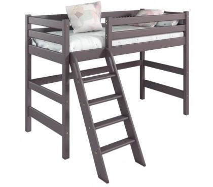 «Соня» Кровать-6 полувысокая с наклонной лестницей цвет Лаванда