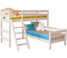 «Соня» Кровать-8 угловая с наклонной лестницей