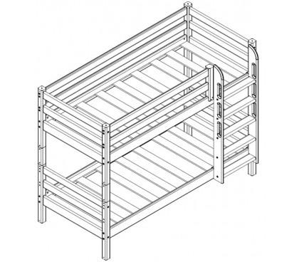 «Соня» Кровать-9 двухъярусная с прямой лестницей схема