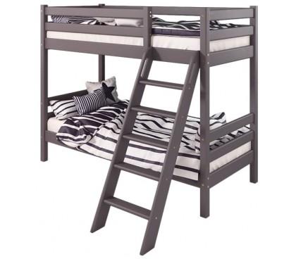 «Соня» Кровать-10 двухъярусная с наклонной лестницей цвет Лаванда