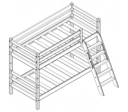 «Соня» Кровать-10 двухъярусная с наклонной лестницей схема