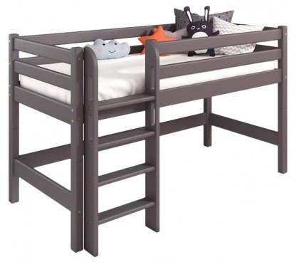 «Соня» Кровать-11 низкая с прямой лестницей цвет Лаванда