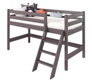«Соня» Кровать-чердак 12 низкая с наклонной лестницей цвет Лаванда