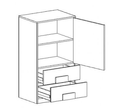 «Марио» Тумба с дверцей и ящиками наполнение