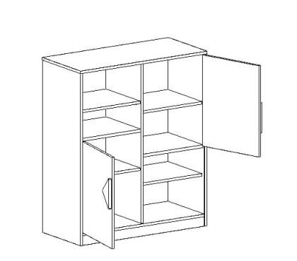 «Марио» Шкаф с двумя дверями наполнение