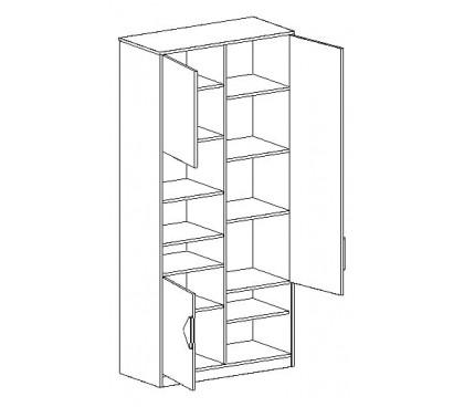 «Марио» Шкаф с тремя дверями наполнение