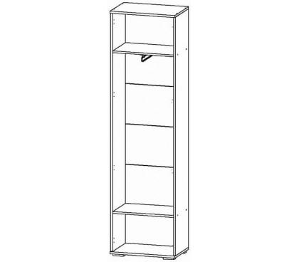 «Джаз» Шкаф 1-дверный ДЖЗ.04 наполнение