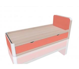 «Артек» НМ-014.38 Кровать с ящиками цвет фасада коралл