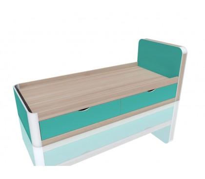 «Артек» НМ-014.38 Кровать с ящиками цвет фасада аква