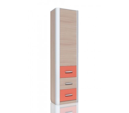 «Артек» НМ-014.55 Шкаф-пенал с ящиками фасад коралл