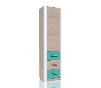 «Артек» НМ-014.55 Шкаф-пенал с ящиками фасад аква
