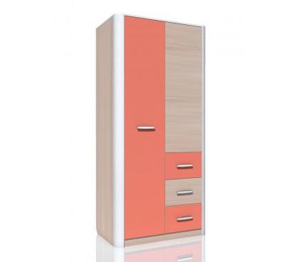«Артек» НМ-014.60 Шкаф комбинированный 2-дверный фасад коралл