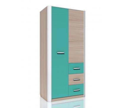 «Артек» НМ-014.60 Шкаф комбинированный 2-дверный фасад аква