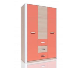«Артек» НМ-014.61 Шкаф комбинированный 3-дверный фасад коралл