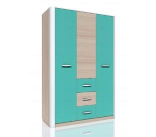 «Артек» НМ-014.61 Шкаф комбинированный 3-дверный фасад аква